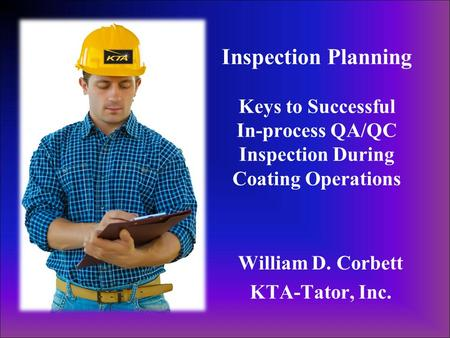 William D. Corbett KTA-Tator, Inc.