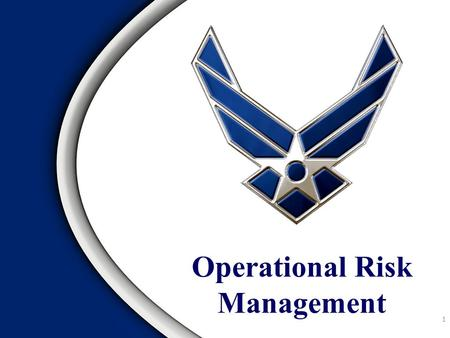 Operational Risk Management 1. Overview Operational Risk Management (ORM)  Definition  Purpose and Goal  Principles.