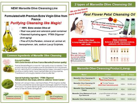 NEW! Marseille Olive Cleansing Line Formulated with Premium Extra Virgin Olive from France Purifying Cleansing like Magic! 100% Extra version Olive oil.