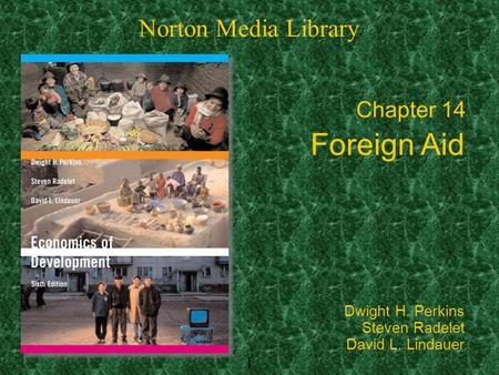1 Chapter 14 Foreign Aid Norton Media Library Dwight H. Perkins Steven Radelet David L. Lindauer.