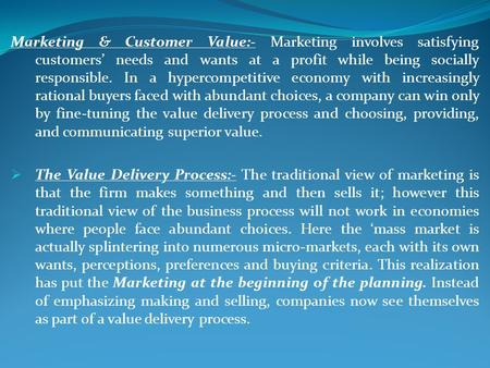 marketing shapes consumer needs and wants essay