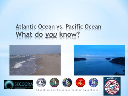 Atlantic Ocean Pacific Ocean Brainstorm! Webquest-Follow instructions from my Sharepoint site!