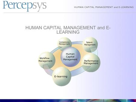 HUMAN CAPITAL MANAGEMENT and E- LEARNING. Why e-Learning: Pros and Cons of e-Learning vs. Class Room Learning What is required to develop such training.