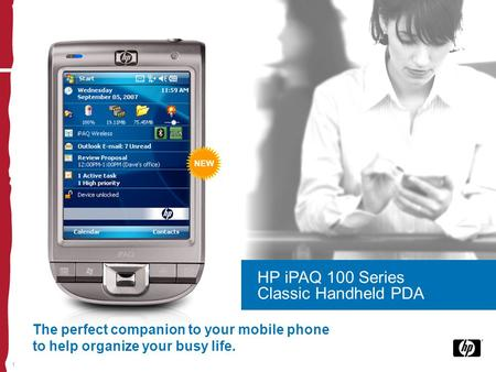 1 The perfect companion to your mobile phone to help organize your busy life. HP iPAQ 100 Series Classic Handheld PDA NEW.