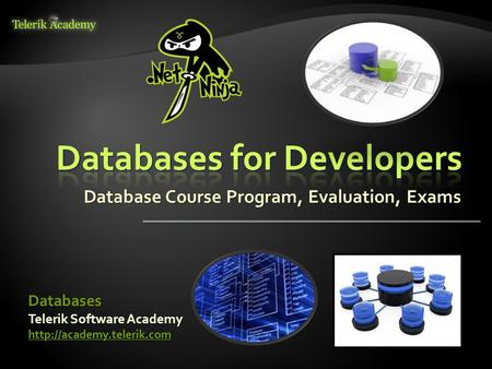 Database Course Program, Evaluation, Exams Telerik Software Academy  Databases.