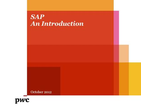 SAP An Introduction October 2012.