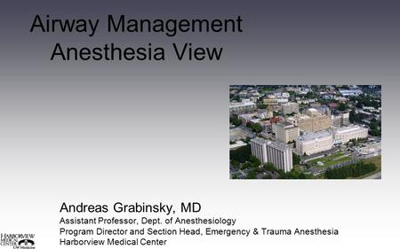 Airway Management Anesthesia View