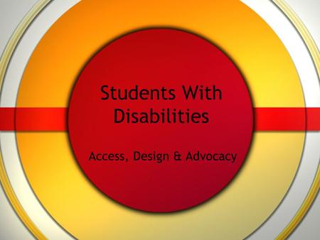 Students With Disabilities Access, Design & Advocacy.