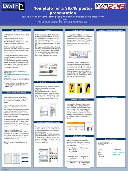 Example layout for an a1 poster presentation ppt download for Posterpresentations com templates