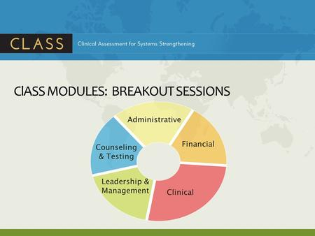 ClASS MODULES: BREAKOUT SESSIONS. ClASS FINANCIAL MODULE.