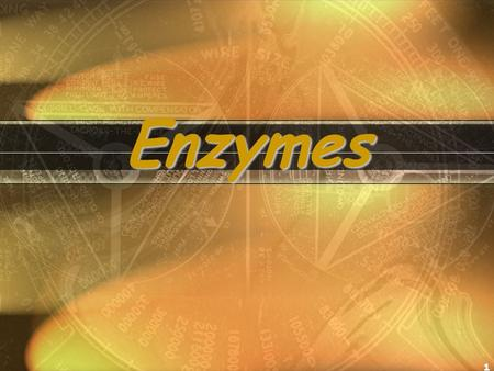 1 Enzymes. 2 What Are Enzymes? Proteins (Most enzymes are Proteins (tertiary and quaternary structures) CatalystAct as Catalyst to accelerates a reaction.