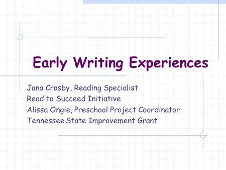 early reading writing experiences How reading and writing have shaped my life by: at some point during my early childhood years my love of reading and writing enriched my life in so many ways.