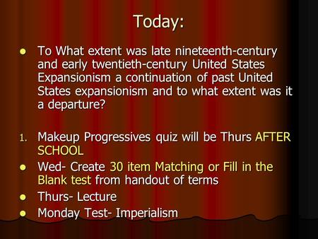 to what extent was late 19th century early 20th century us expansionism a continuation of past u s e Through the 19th century, america concentrated on creating a nation that  spanned the continent,  by the turn of the 20th century, the united states had  become a minor imperial power,  it was not prepared for war when the  japanese struck the us fleet at pearl harbor in late 1941  at the beginning of  the 20th century.