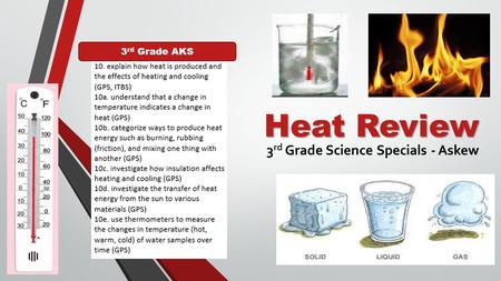 Heat Review 3 rd Grade Science Specials - Askew 3 rd Grade AKS.