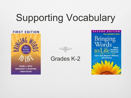 Supporting Vocabulary