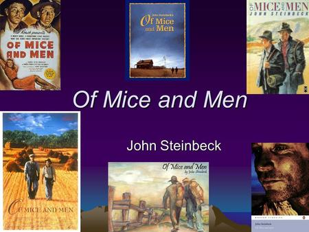 an overview of the supplemental assignment in the novel of mice and men by john steinbeck and the ca Get free homework help on steinbeck's of mice and men: book summary, chapter summary and analysis, quotes, essays, and character analysis courtesy of cliffsnotes john steinbeck's of mice and men is a parable about what it means to be human steinbeck's story of george and lennie's ambition of owning their own.