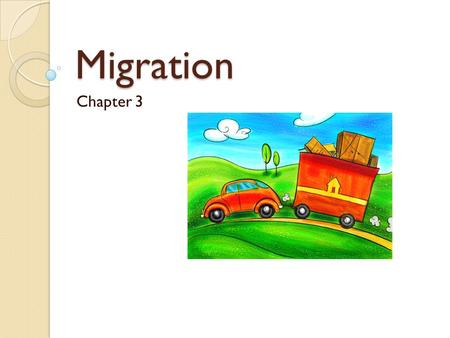 Migration Chapter 3. Push and Pull Factors Push factors are things that push people away from their current place Pull factors are things that pull people.