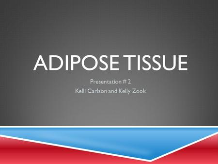 ADIPOSE TISSUE Presentation # 2 Kelli Carlson and Kelly Zook.