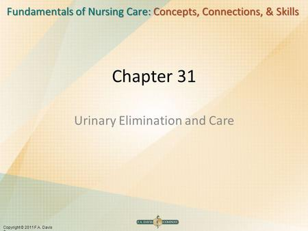 Urinary Elimination and Care