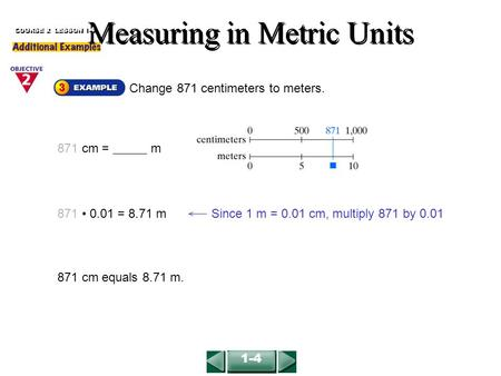 Measuring in Metric Units