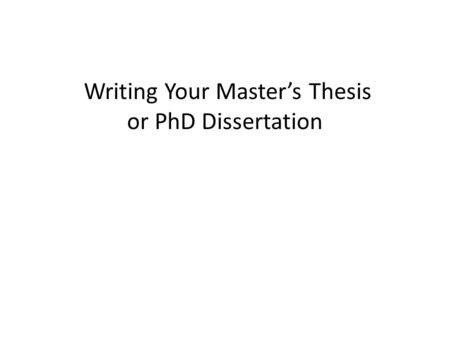 Dissertation reviewers