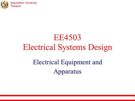EE4503 Electrical Systems Design