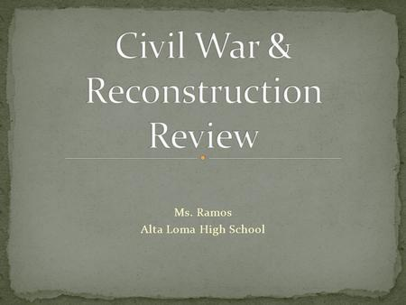 Ms. Ramos Alta Loma High School. In the Compromise of 1850, Congress determined that slavery in the New Mexico and Utah territories was to be decided.