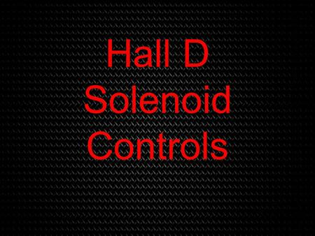 Hall D Solenoid Controls. Rockwell Software Overview RSLogix5000 (PLC Programming) RSLinx Classic (Rockwell software/hardware interface) FactoryTalk (GUI.