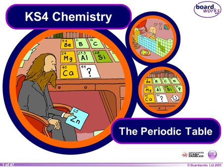 KS4 Chemistry The Periodic Table.