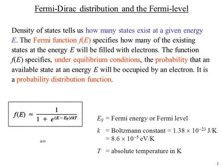 Fermi-Dirac distribution and the Fermi-level