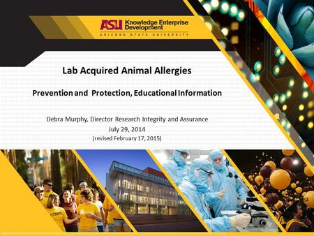 Lab Acquired Animal Allergies