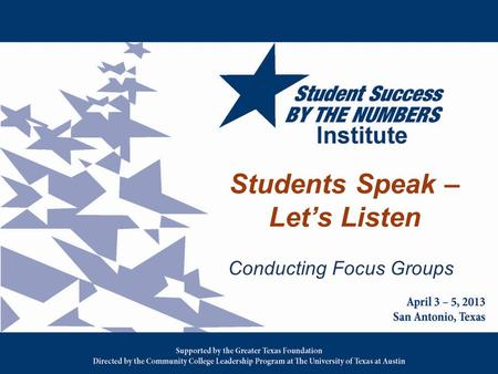 Students Speak – Let's Listen