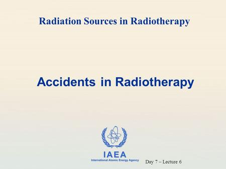 Accidents in Radiotherapy