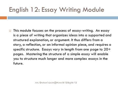 kinds of essay exercises To write a definition essay, you'll need to define a word that: has a complex meaning is disputable (could mean different things to different people.