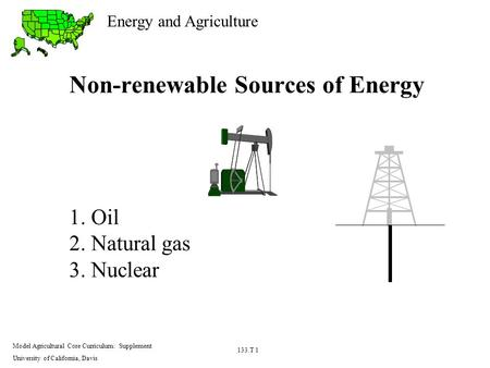 Non-renewable Sources of Energy