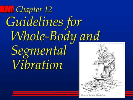 Chapter 12 Guidelines for Whole-Body and Segmental Vibration.