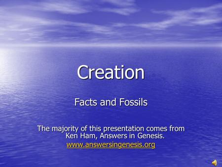 Creation Facts and Fossils