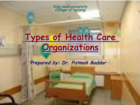 an introduction to healthcare organizations in the us A le bris, w el asri |state of cybersecurity & cyber threats in healthcare organizations | 1 introduction cybersecurity has become a crucial issue for many organizations but also for private individuals.