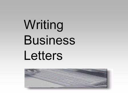 Write a business letter task