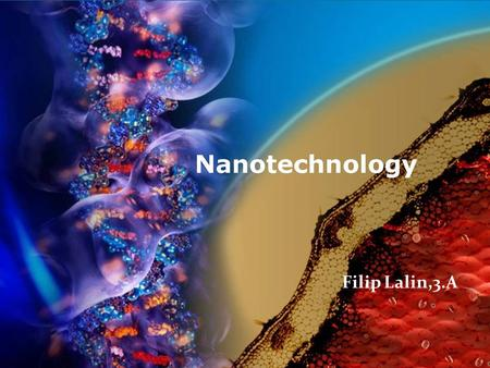 NANOTECHNOLOGY Filip Lalin,3.A.
