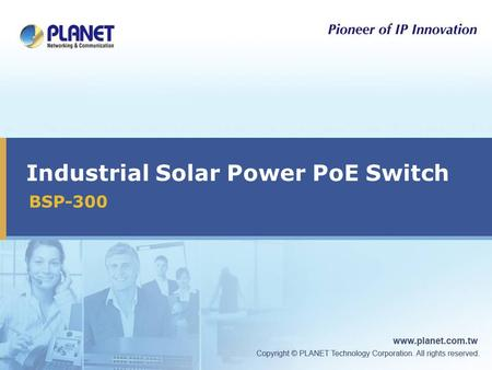Industrial Solar Power PoE Switch