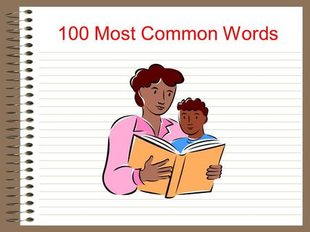 100 Most Common Words a all and are as at be.