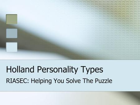 Holland Personality Types
