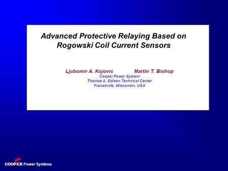 Advanced Protective Relaying Based on Rogowski Coil Current Sensors