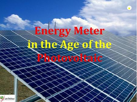 in the Age of the Photovoltaic
