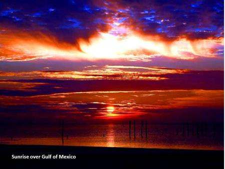 Sunrise over Gulf of Mexico