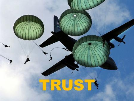 TRUST. Army professionals: Understand and maintain the Trust of their fellow professionals. Build Trust in relationships through candor, transparency,