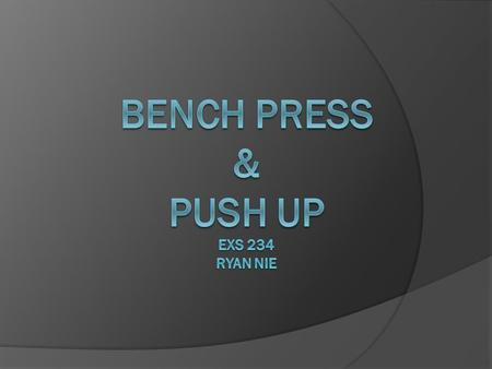 Introduction  The Bench Press is probably the most commonly used lift in the United States.  It is also a lift that is commonly executed poorly and.