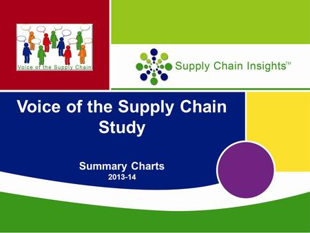 Voice of the Supply Chain Study Summary Charts 2013-14.