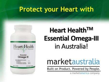 Heart Health TM Essential Omega-III in Australia! Protect your Heart with.